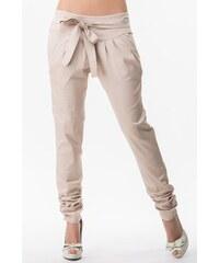 Sixie Sixie dámské béžové kalhoty s mašlí , Velikost S