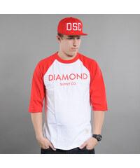 Diamond Supply Co. Diamond Classic Raglan bílé / červené