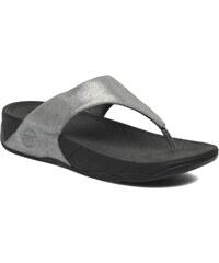 FitFlop - Lulu Shimmersuede - Zehensandalen für Damen / silber