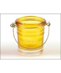 Svícen Glass Bucket žlutý na votivní svíčku