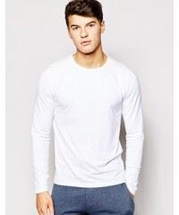 Jack & Jones - Langärmliges Shirt in regulärer Passform - Weiß