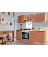 RESPEKTA Küchenzeile mit Edelstahl-Kochmulde »Basic«, Breite 210 cm