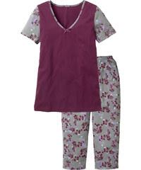 bpc selection Pyjama kurzer Arm in lila für Damen von bonprix