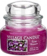 Village Candle Svíčka ve skle Violet blossom - malá