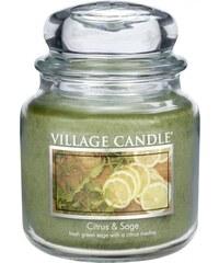 Village Candle Svíčka ve skle Citrus & Sage - střední