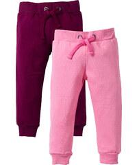 bpc bonprix collection Lot de 2 pantalons sweat, T. 80-134 rose enfant - bonprix