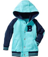 bpc bonprix collection Blouson baseball en coton bio bleu manches longues enfant - bonprix