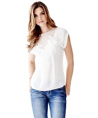 Guess Halenka Short-Sleeve Embroidered Top