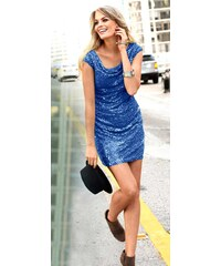 Třpytivé šaty s flitry, pajetkové šaty, flitrové šaty Marc New York 32 modrá