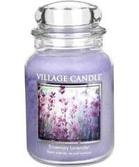 Village Candle Svíčka ve skle Rosemary Lavender - velká