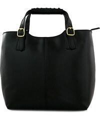 Kožená kabelka Alexia 846M černá