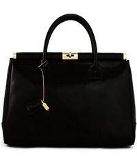 Kožená kabelka Borse Gianni 110 černá