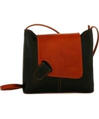 Kožená kabelka L Artigiano 8141 černá / camel