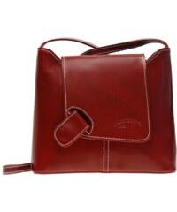 Kožená kabelka L Artigiano 8141 červená