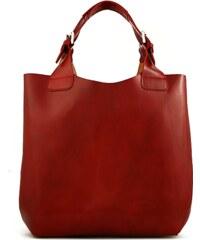 Kožená kabelka L Artigiano 846 MN červená