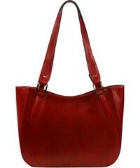 Kožená kabelka Luka 646 červená