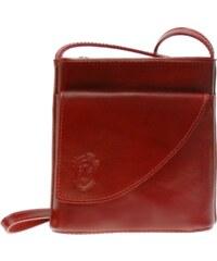 Kožená kabelka Vera Pelle 098 červená