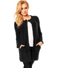 Elegantní dámský kardigan s kapsami - černý