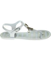 Gioseppo Acapulco white-silver plážové sandály
