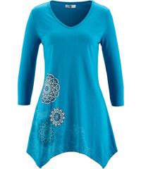 bpc bonprix collection Zipfel-Shirt mit 3/4-Ärmeln 3/4 Arm in blau für Damen von bonprix