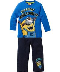 Despicable Me 2 Longshirt + Sweathose MINIONS (2-tlg.), Gr. 92-146 langarm in blau für Jungen von bonprix