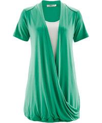bpc bonprix collection Top cache-cœur 2en1, demi-manches vert femme - bonprix
