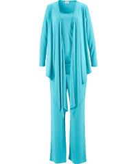 bpc bonprix collection Ensemble de relaxation 3 pièces et sa pochette bleu femme - bonprix
