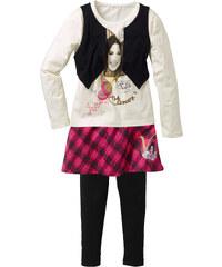 Disney Outfit VIOLETTA (3-tlg.), Gr. 116-170 langarm in schwarz für Mädchen von bonprix