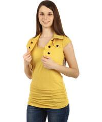 TopMode Bolerko s límečkem a krátkým rukávem žlutá