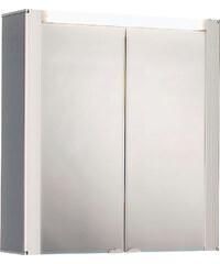 Jokey Plastik TROMSÖ Zrcadlová skříňka - bílá/čelo aluoptika