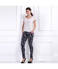 Lesara Damen-Skinny-Jeans mit Stern-Muster - 28
