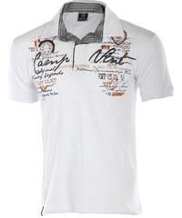 TopMode Pánské extravagantní tričko s límečkem bílá