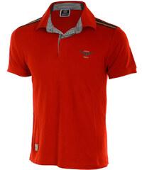 TopMode Pánské stylové tričko s límečkem červená