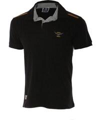 TopMode Pánské stylové tričko s límečkem černá