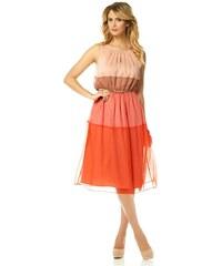 Luxusní šaty VINCE CAMUTO se zlatým páskem 34 oranžová