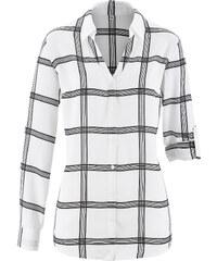 bpc selection Bluse langarm in weiß (V-Ausschnitt) von bonprix