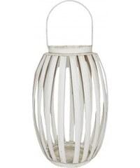 Kovová lucerna - dýně bílá JOSTRIPLAMW