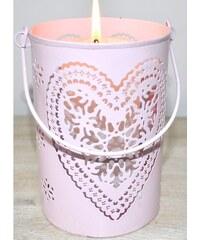 Svícen - Růžové srdce L JOPINBB