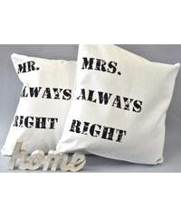 Mr Always Right polštář JOWAMRAR
