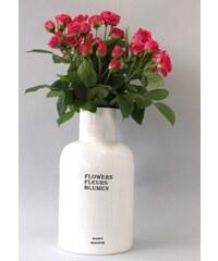 Rustikální váza - bílá JOWFVSG
