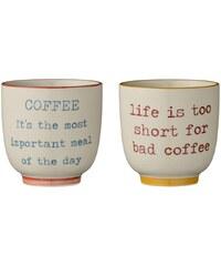 Bloomingville Keramický hrneček Coffee - 2 druhy Červený nápis