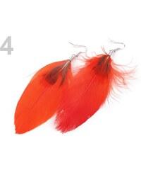 Stoklasa Náušnice peříčkové 12cm (1 pár) - 4 červená