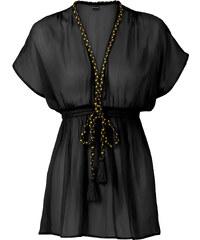 BODYFLIRT Tunikabluse kurzer Arm in schwarz von bonprix