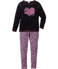 bpc bonprix collection Pyjama (2-tlg.), Gr. 128/134-176/182 in schwarz für Mädchen von bonprix