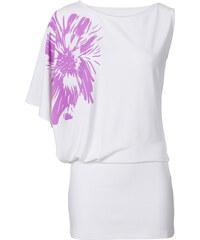 BODYFLIRT T-shirt asymétrique blanc femme - bonprix