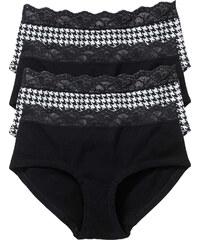 bpc bonprix collection Lot de 4 culottes noir lingerie - bonprix