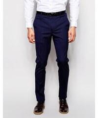 ASOS - Pantalons skinny élégants - Bleu marine