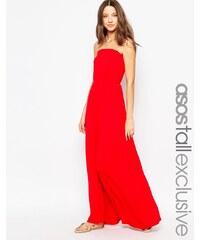 ASOS TALL - Maxi robe bandeau - Rouge