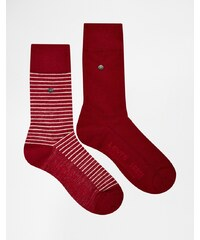 Levis Levi's - Gestreifte Socken im 2er-Set - Rot