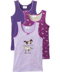 bpc bonprix collection Lot de 3 tricots de peau, T. 92/98-152/158 violet lingerie - bonprix